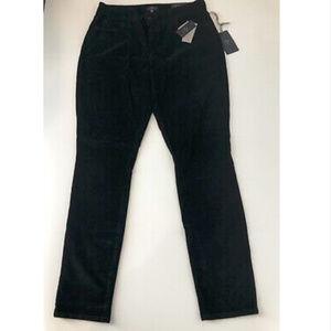 NYDJ Black Corduory Size 10 Legging Slim Fit